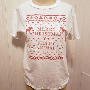 """""""Merry Christmas Ya Filthy Animal"""" Tee"""